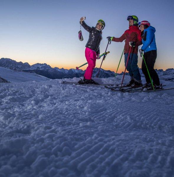 Trentino Ski Sunrise al Passo San Pellegrino
