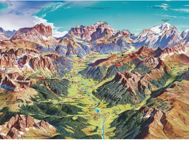 Mappa Interattiva per la Val di Fassa